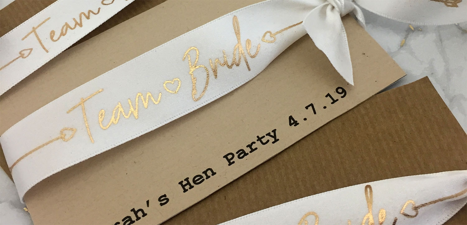 Bride & Hen Night Ribbons