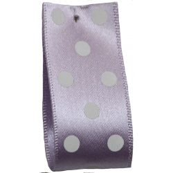 Polka Dot Ribbon By Berisfords Ribbons 15mm Col: Orchid