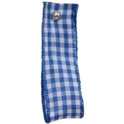 Gingham Ribbon By Berisfords in Peacock Blue (Colour 4) - available in 5mm - 40mm widths