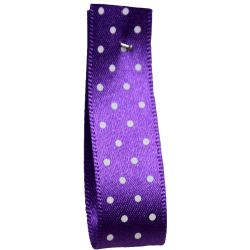 25mm Micro Dot Ribbon Article 5932 Col: Purple