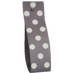 Polka Dot Grosgrain Ribbon 15mm Col: 10