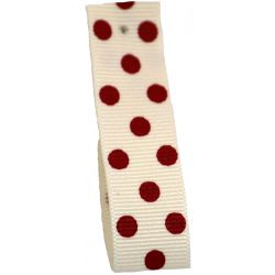Polka Dot Grosgrain 15mm Col: 2