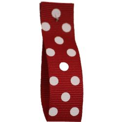Polka Dot Grosgrain Ribbon 15mm Col: 8