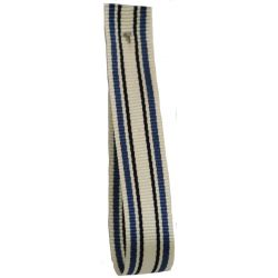 Deckchair Stripe Ribbon 10mm By Berisfords Ribbons Col: Blue