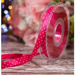 10mm Micro Dot Ribbon Article 5932 Col: Shocking Pink