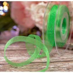 15mm Meadow Green Sheer Ribbon By Berisfords Ribbons