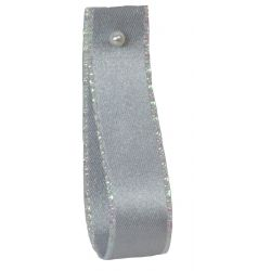 Silver Ribbon With Iridescent Edging 15mm x 20m