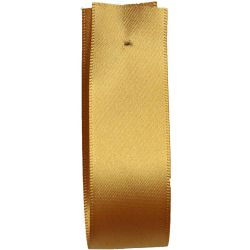 Shindo Double Satin Ribbon Old Gold (Col: 160) - 3mm - 50mm widths