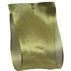 Wired Edged Gold Metallic Style Ribbon