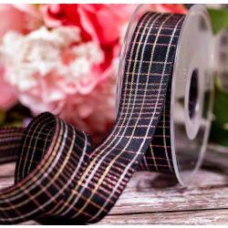 25mm lurex plaid ribbon