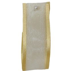 Sheer Elegance Ribbon Col: Honey Gold 25mm x 25m Article 9902