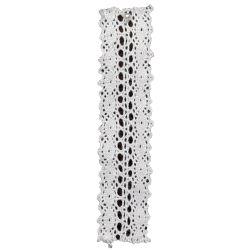27mm Premium Lace Ribbon - Georgian Pattern in White & ivory