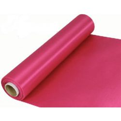 29cm Wide Cerise Cut Edged Satin Fabric