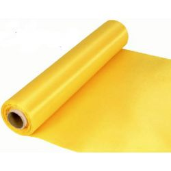 29cm Wide YellowCut Edged Satin Fabric