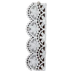 32mm Guipure Lace Ribbon in White