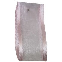 Sheer Elegance Ribbon Col: Pink 25mm x 25m Article 9902