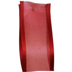 Sheer Elegance Ribbon Col: Red 25mm x 25m Article 9902