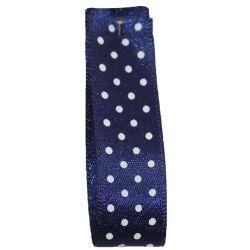 25mm Micro Dot Ribbon Article 5932 Col: Navy