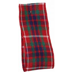 Fraser Tartan Ribbon By Berisfords Ribbons - available in varying widths from 7mm to 70mm