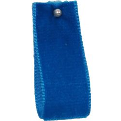 Velvet Ribbon By Berisfords Col: Venetian Blue 9197 - available in 9mm - 50mm widths