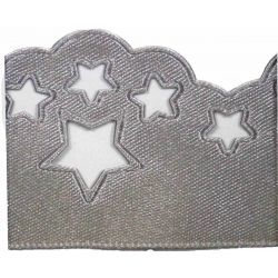 Scatter Star Satin Ribbon Col; Silver Grey