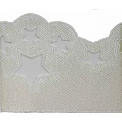Scatter Star Satin Ribbon Col; Bridal White