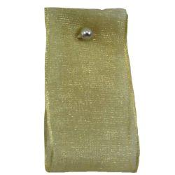 Festive Gold Sheer  Sheer Ribbons 15mm x 25m By Berisfords Ribbons col: 6842