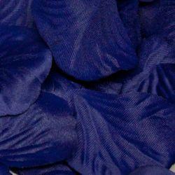 Box Of 164 Navy Fabric Rose Petals