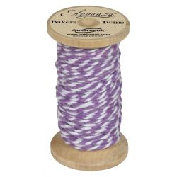 Bakers Twine Wooden Spool 2mm x 15m Lavender No.45