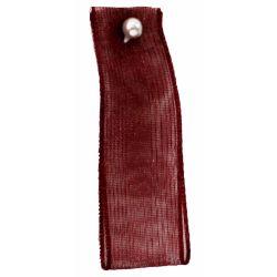 Burgundy Sheer Ribbons | Organza Ribbons 15mm x 25m By Berisfords Ribbons col: 405