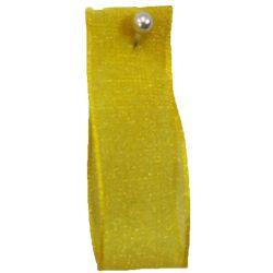 Yellow Sheer Ribbons | Organza Ribbons 15mm x 25m By Berisfords Ribbons col: 679