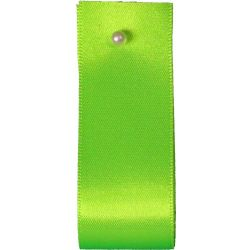 Double Satin Ribbon By Berisfords Ribbons: Flo Green (Col 6847) - 3mm - 70mm widths