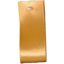 Double Satin Ribbon By Berisfords Ribbons: Honey Gold (Col 678)- 3mm - 70mm widths