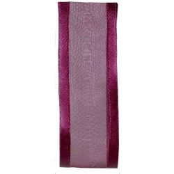 25mm raspberry satin edged ribbon