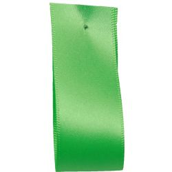 Shindo Double Satin Ribbon Bright Green (Col: 114) - 3mm - 38mm widths