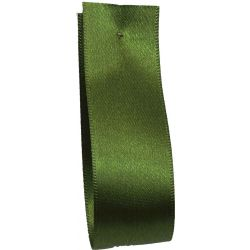 Shindo Double Satin Ribbon Moss Green (Col: 177) - 3mm - 50mm widths