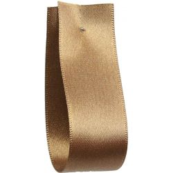Shindo Double Satin Ribbon Sable (Col:179) - 3mm - 50mm widths