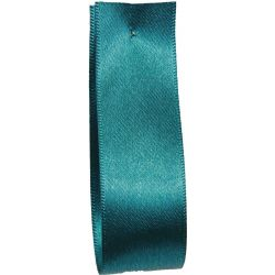 Shindo Double Satin Ribbon Teal Green  (Col:185) - 3mm - 38mm widths
