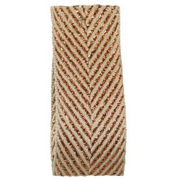 Zig Zag Lame Ribbon Copper 15mm & 25mm.  Art 60170