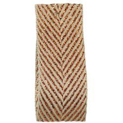 Zig Zag Lame Ribbon Copper 15mm & 25mm.  Art 60170