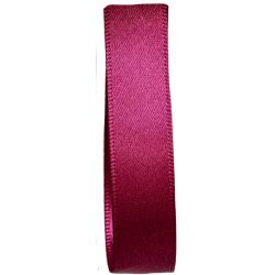 Shindo Double Satin Ribbon Colour in Fuchsia (Col 206) - 3mm - 50mm widths