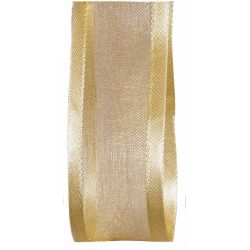 25mm gold satin edged satin ribbon