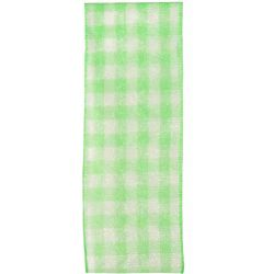 Sheer Gingham Ribbon Col: Green