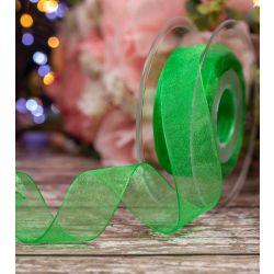25mm Meadow green Sheer Ribbon
