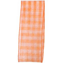 Sheer Gingham Ribbon Col: Orange