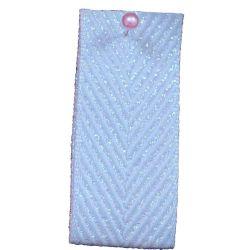 Zig Zag Lame Ribbon in Pale Blue 15mm & 25mm.  Art 60170