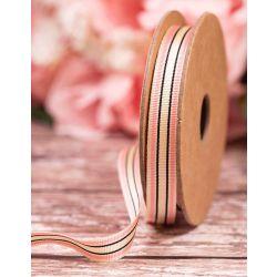 Deckchair Stripe Ribbon 10mm  By Berisfords Col: Pink