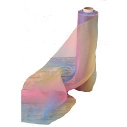 29cm wide rainbow sheer ribbon