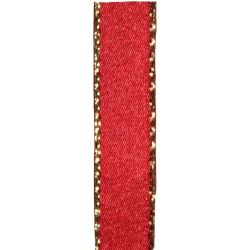 Metallic Gold Edged Red Ribbon in 3mm, 7mm,15mm, 25mm widths