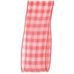 Sheer Gingham Ribbon Col: Red